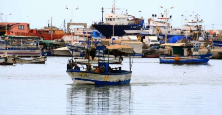 A fishing boat is pictured in the southern Tunisian port of Zarzis, where 75 migrants had been stranded for two weeks.  By FATHI NASRI (AFP/File)