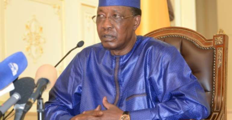 A French ally, President Idriss Deby Itno has faced threats before.  By BRAHIM ADJI (AFP)