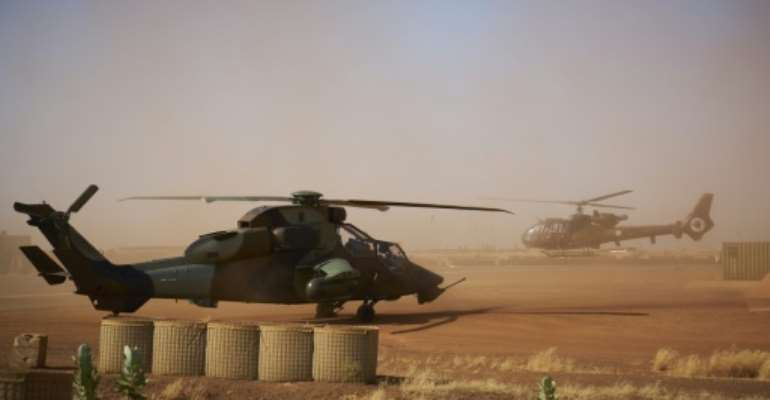 A French military base in Gao, northern Mali, a region that has recently seen more deaths of soldiers, especially Malian troops with Islamists killing more than 140 of them since September.  By MICHELE CATTANI (AFP)