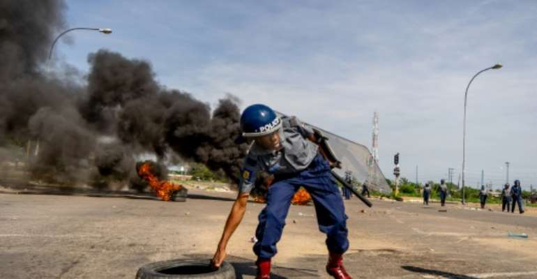 A fuel price hike triggered anti government protests at the start of the year.  By Zinyange AUNTONY (AFP)