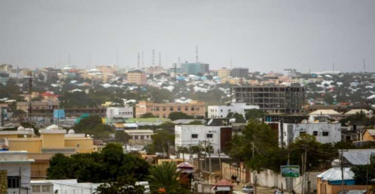 A general view of Mogadishu skyline.  By STUART PRICE (AU-UN IST PHOTO/AFP/File)