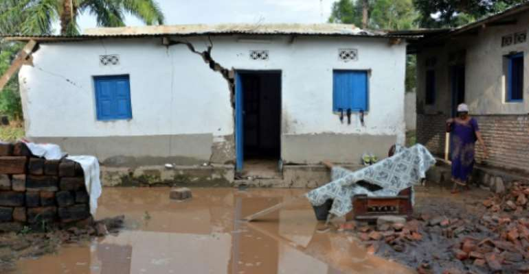 A leaked UN climate science report, seen by AFP in June, predicts flooding will in future displace 2.7 million people in Africa annually.  By STRINGER (AFP/File)