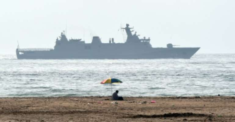 A Moroccan navy patrol, similar to the one pictured August 2015, was