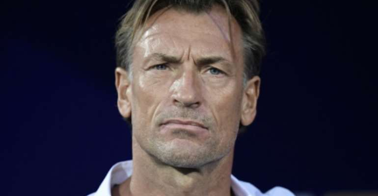 A pensive Morocco coach Herve Renard during the Africa Cup of Nations group game against the Ivory Coast in Cairo.  By JAVIER SORIANO (AFP)
