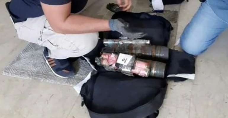 A photo released in July 2020 by the US military purports to show an improvised explosive device brought to the Libyan capital Tripoli by the Wagner Group, a Russian-backed private military contractor.  By Handout (AFRICOM/AFP/File)