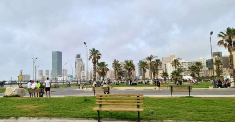 A recreational area in Tripoli built on the former military academy of late Libyan leader Moamer Kadhafi's entourage of female bodyguards, known as