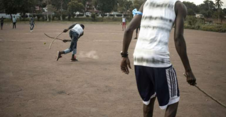 A sport known as ngbaba that is unique to the Central African Republic has been hauled back from near-death.  By FLORENT VERGNES (AFP)
