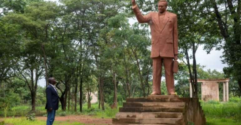 A statue of Lumumba at Shilatembo, the site near the southern city of Lubumbashi where he was murdered.  By Samir Tounsi (AFP/File)