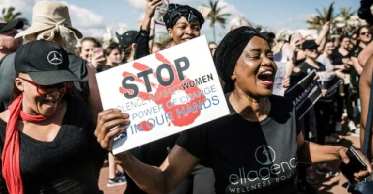 A string of brutal murders has sparked an outcry in South Africa, where many people had become inured to rape and violence against women.  By Rajesh JANTILAL (AFP)