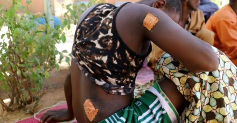 A survivor of a jihadist attack on two villages in western Niger on January 2 in which 100 people were killed.  By Souleymane Ag Anara (AFP/File)