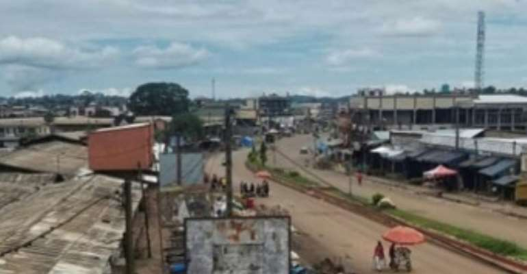 A view of the market in Bamenda taken in September when Cameroon's army launched a