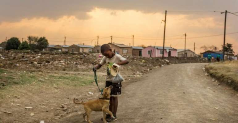 A World Bank report earlier this year declared that South Africa was the most unequal society in the world.  By TADEU ANDRE (AFP/File)