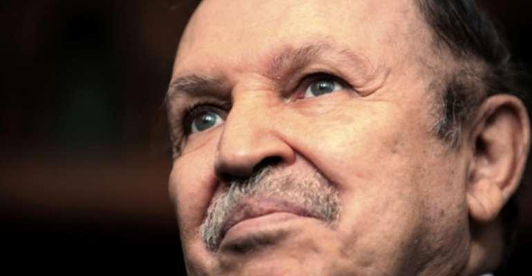 Abdelaziz Bouteflika, shown here in 2009, helped foster peace in Algeria after a decade-long civil war in the 1990s.  By FAYEZ NURELDINE (AFP/File)