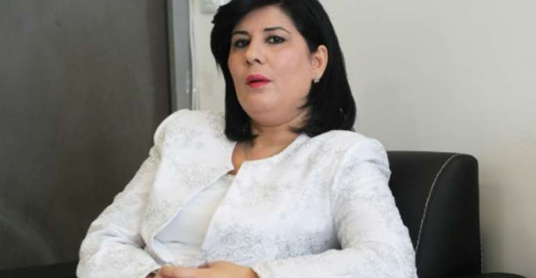 Abir Moussi, president of the Free Destourian Party  -- one of two female candidates to qualify for Tunisia's presidential poll.  By Hasna (AFP/File)