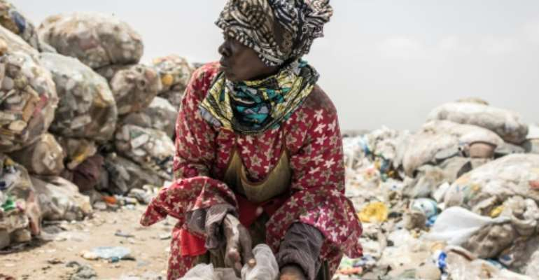 About a quarter of the pickers earn more than $180 a month, but many earn far less, a study found.  By JOHN WESSELS (AFP)