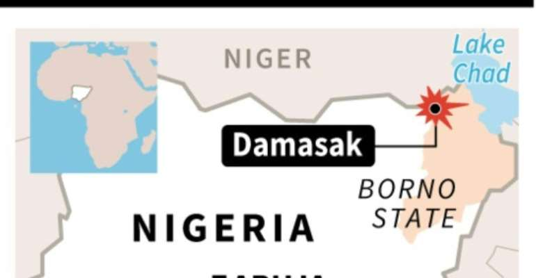 Action Against Hunger said in a statement that a member of staff was among the missing after the convoy was ambushed in Kennari, a village outside Damasak Town near the border with Niger.  By J. M. Cornu (AFP)