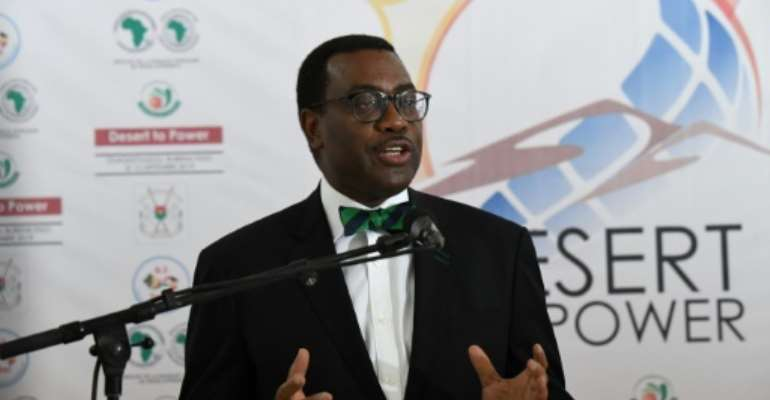 African Development (AFDB) president Akinwumi Adesina is seeking a second, five-year term at the head of the bank.  By ISSOUF SANOGO (AFP)
