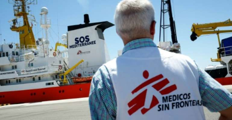 After nearly three years of operations in which it rescued some 30,000 migrants, the Aquarius was forced to cease operations in December 2018.  By PAU BARRENA (AFP/File)