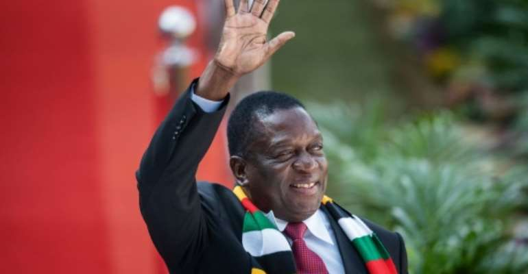 After protests over fuel prices, Zimbabwe's President Emmerson Mnangagwa warned he would target groups seen as anti-government.  By Michele Spatari (AFP)