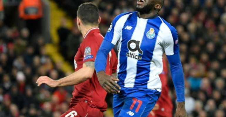 After soldiering through Porto's defeat at Anfield last week, Moussa Marega will have a key role to play for the Portuguese side in their Champions League quarter-final second leg against Liverpool on Wednesday.  By LLUIS GENE (AFP/File)