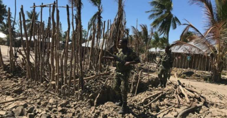 Aftermath of an attack on the village of Naunde, northern Mozambique, last June. Dozens of people in the region have been killed since a mysterious jihadist group launched an insurgency in October 2017..  By Joaquim NHAMIRRE (AFP)