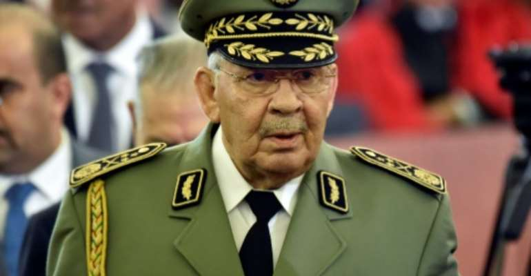 Ahmed Gaid Salah was a veteran of Algeria's war for independence from France.  By RYAD KRAMDI (AFP/File)