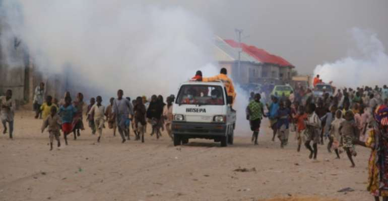 Aid workers fear the virus could prove devastating if it spreads inside the crowded camps holding hundreds of thousands of displaced people.  By AUDU MARTE (AFP/File)
