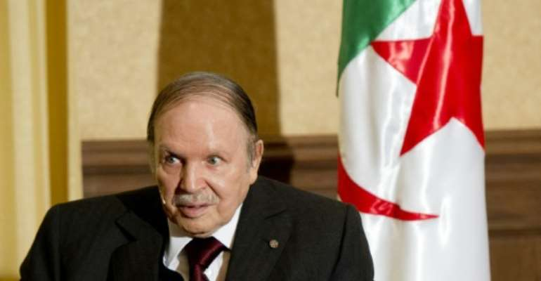 Oil-rich Algeria has been ruled since 1999 by President Abdelaziz Bouteflika (pictured), but concerns have been growing over how much longer he can stay in power.  By Alain Jocard (POOL/AFP/File)