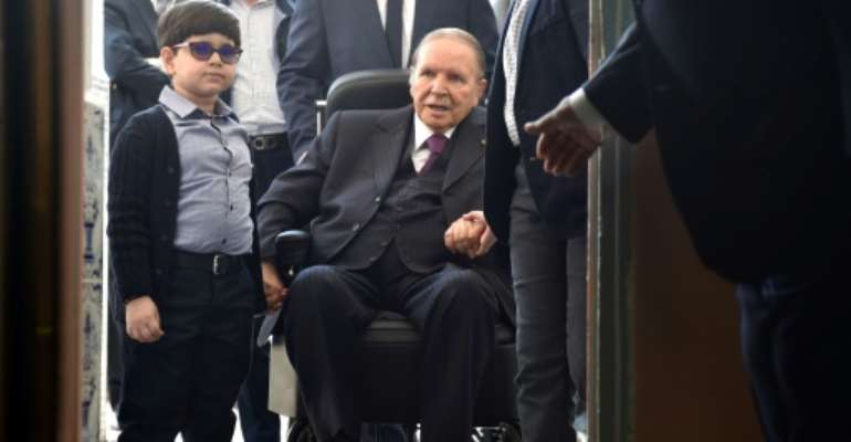 Algerian President Abdelaziz Bouteflika has faced weeks of massive protests.  By RYAD KRAMDI (AFP)