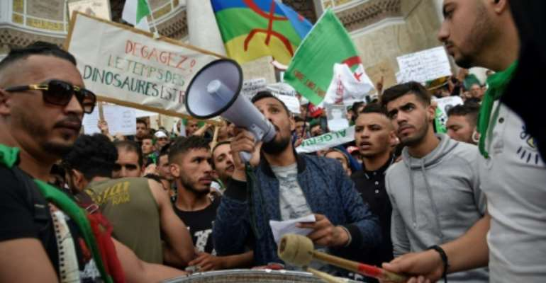 Algerian protesters have continued to demand fundamental changes to the political system.  By RYAD KRAMDI (AFP)
