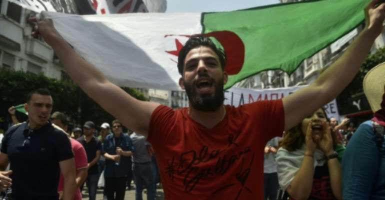 Algerian protesters have held anti-government rallies for weeks demanding the ouster of all officials linked to former president Abdelaziz Bouteflika.  By RYAD KRAMDI (AFP/File)