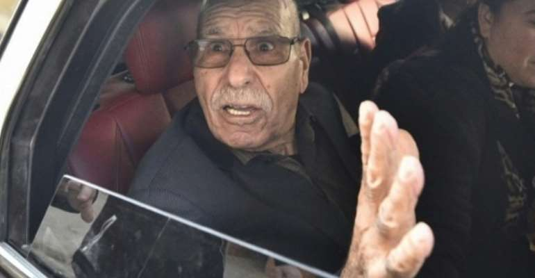 Algerian war veteran Lakhdar Bouregaa upon his release from custody in January this year.  By Ryad KRAMDI, RYAD KRAMDI (AFP)