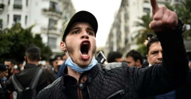 Algerians have returned to the streets in recent weeks in a resurgence of the Hirak anti-government protest movement.  By RYAD KRAMDI (AFP)