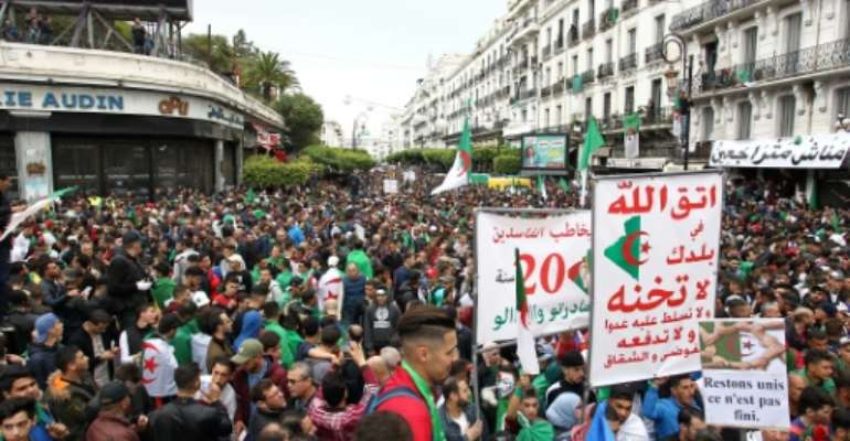 Algerians took to the streets in their hundreds of thousands to demand Abdelaziz Bouteflika's resignation last year, but many were disappointed that a presidential election to choose his successor merely reinforced the status quo.  By - (AFP/File)