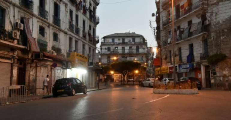 Algeria's capital Algiers during a curfew at the end of June aimed at preventing the spread of COVID-19.  By RYAD KRAMDI (AFP)