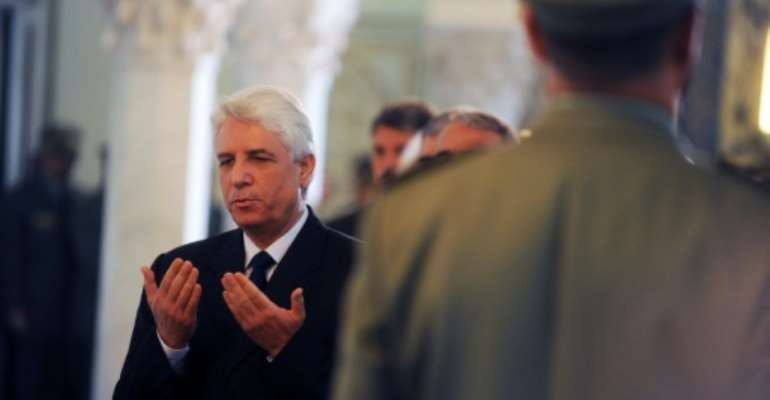 Algeria's former justice minister Tayeb Louh, seen in this 2012 picture, has been placed in preventative detention on allegations of abuse of power.  By Farouk Batiche (AFP/File)