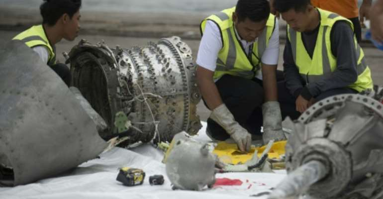 All 189 passengers and crew died when a Lion Air 737 MAX jet crashed shortly after takeoff last year.  By BAY ISMOYO (AFP/File)