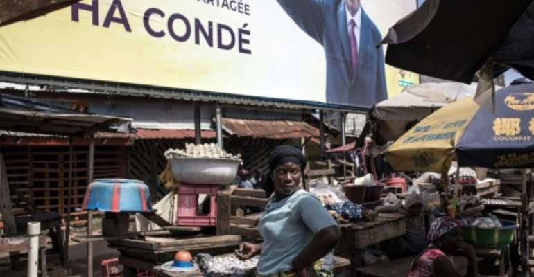 Alpha Conde won over 59 percent of the vote in Guinea's highly contested presidential poll.  By JOHN WESSELS (AFP/File)