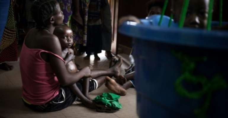 Although childhood malnutrition has decreased globally over the past several decades, undernourishment has increased since 2015.  By FLORENT VERGNES (AFP/File)