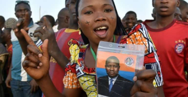 Amadou campaigned for the 2016 presidential elections from his prison cell.  By ISSOUF SANOGO (AFP/File)