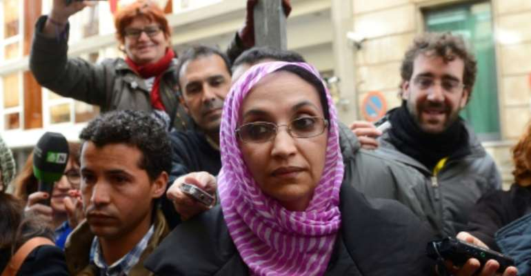 Aminatou Haidar will receive the Right Livelihood Award, sometimes referred to as the Nobel Prize for human rights.  By PIERRE-PHILIPPE MARCOU, PIERRE-PHILIPPE MARCOU (AFP/File)
