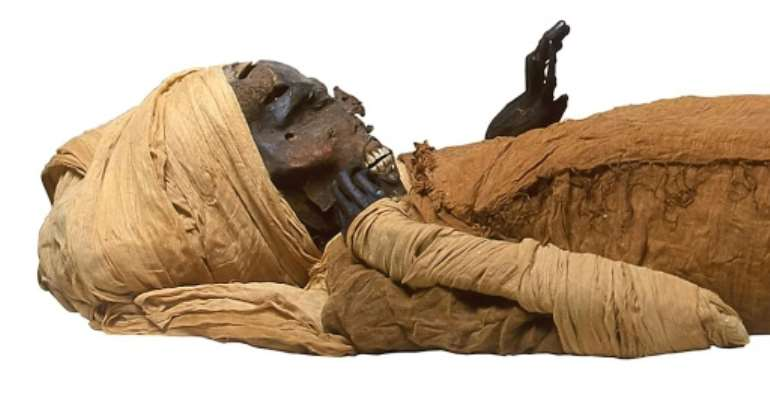 An Egyptian mummy of pharaoh: 22 kings are queens are to be moved on Saturday to a new museum site.  By - (Egyptian Ministry of Antiquities/AFP)