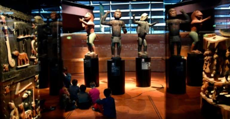An expert report commissioned by French President Emmanuel Macron in 2018 counted some 90,000 African works in French museums -- most of them at the Quai Branly, pictured here.  By GERARD JULIEN (AFP)