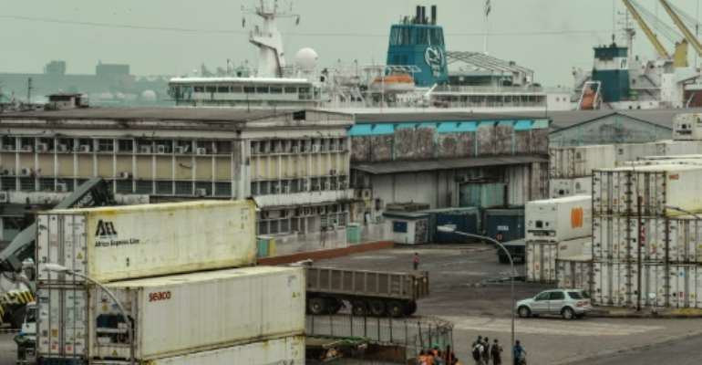 An official at the port of Douala, pictured in March 2018, confirmed the kidnappings, and said the seamen had been taken after their ship came under attack.  By Reinnier KAZE (AFP/File)