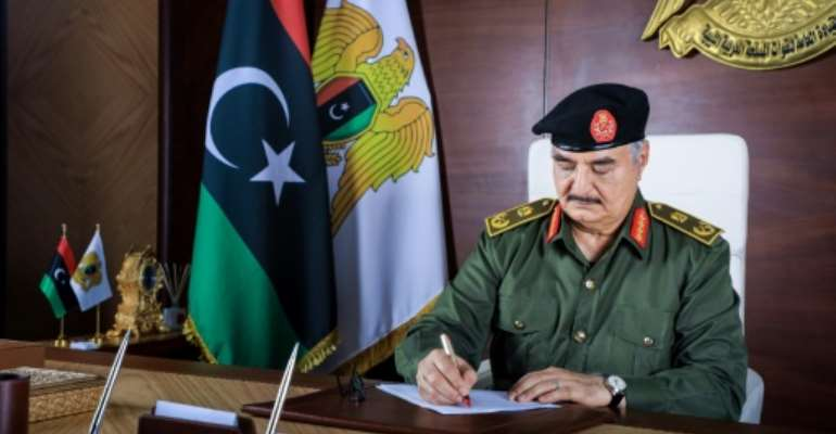 Analysts say Khalifa Haftar has lost many of his supporters.  By - (Media Office of the Libyan National Army (ANL)/AFP/File)
