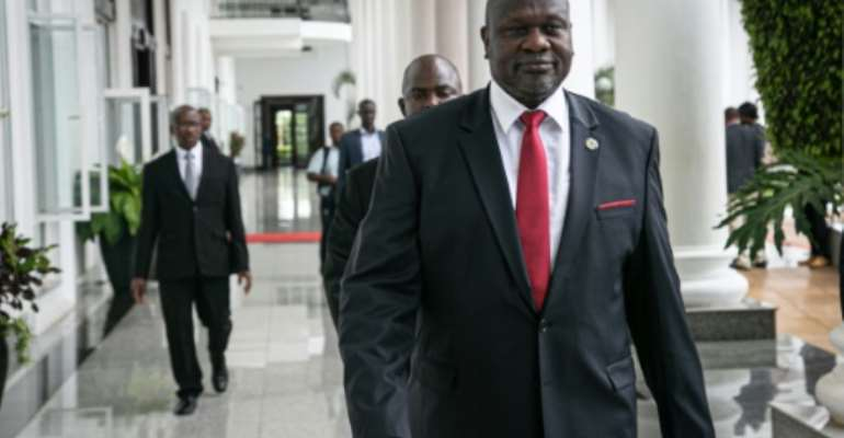 Analysts say the bickering leaves Machar in an increasingly precarious position as he attempts to implement a peace process which is already lagging behind schedule.  By Michael O'HAGAN (AFP/File)