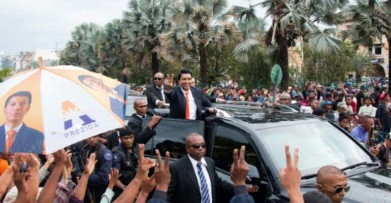 Andry Rajoelina won a presidential election in Madagascar in December.  By Mamyrael (AFP/File)
