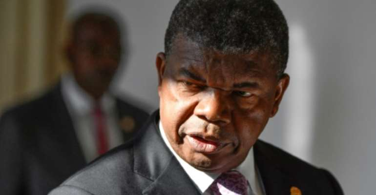 Angola's President Joao Lourenco is seen April 3, 2019.  By Alexander NEMENOV (AFP/File)