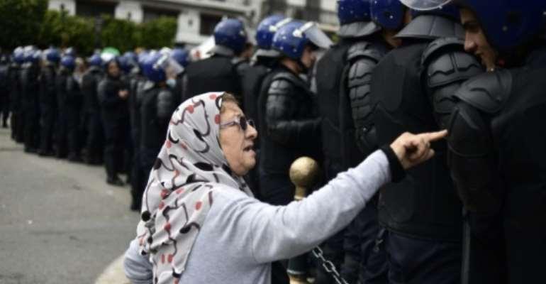 Anti-regime rallies have been held in Algeria over the past seven weeks.  By RYAD KRAMDI (AFP)