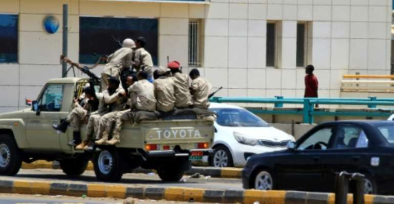Armed paramilitaries were out in force in Khartoum.  By - (AFP)